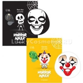 Тканевая маска с экстрактом зеленого чая Berrisom Horror Mask Series