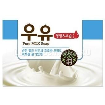 Молочное мыло для сухой кожи Mukunghwa Pure Milk Soap
