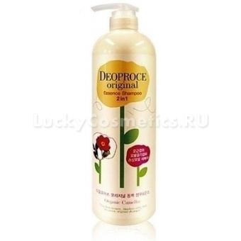 Шампунь+бальзам с камелией Deoproce Original Essence 2 In 1 Shampoo Camellia