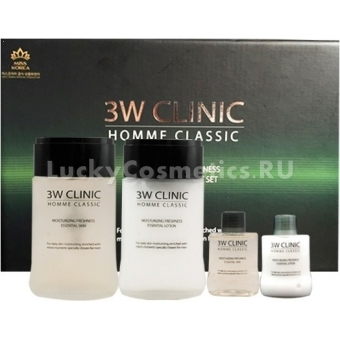 Мужской подарочный набор 3W Clinic Classic Moisturizing Freshness Essentia 2 Items Set