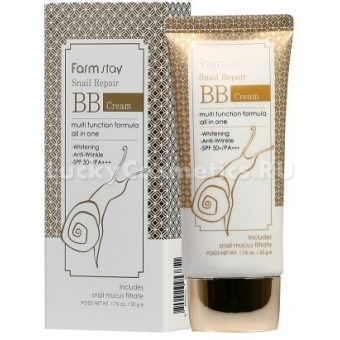 Регенерирующий ББ крем с муцином улитки FarmStay Snail Repair BB Cream