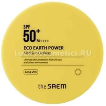 Солнцезащитный кушон The Saem Eco Earth Power Mild Sun Cushion SPF50+ PA++++