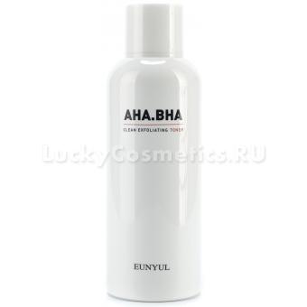 Обновляющий тонер с AHA и BHA кислотами Eunyul AHA.BHA Clean Exfoliating Toner