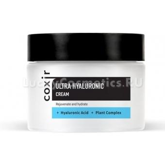 Увлажняющий гель-крем с муцином, гиалуроновой кислотой и алоэ вера Coxir Ultra Hyaluronic Cream