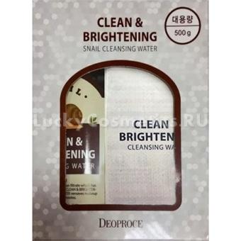 Очищающая вода с экстрактом улитки Deoproce Clean and Brightening Snail Cleansing Water