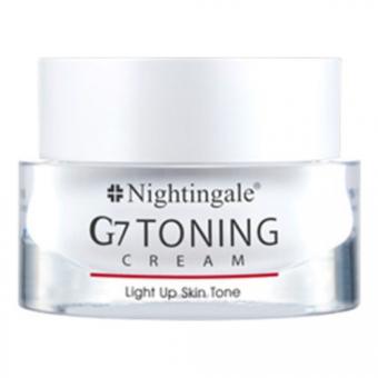 Крем для лица осветляющий с глутатионом и растительными экстрактами Nightingale G7 Toning Cream