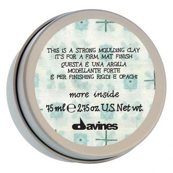 Моделирующая глина для стойкого матового финиша Davines More Inside Strong Moulding Clay