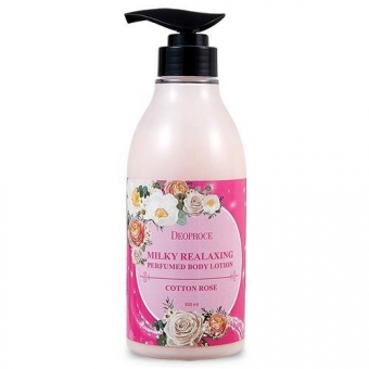 Лосьон для тела Deoproce Milky Relaxing Body Lotion Cotton Rose
