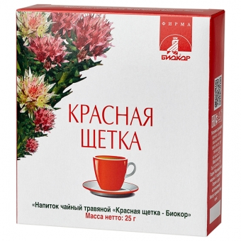 БАД Биокор БАД к пище Напиток чайный травяной Красная щетка
