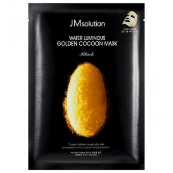 Тканевая маска с экстрактом золотого шелкопряда JMsolution Water Luminous Golden Cocoon Mask Black
