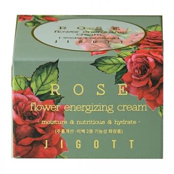 Тонизирующий крем с экстрактом розы Jigott Rose Flower Energizing Cream