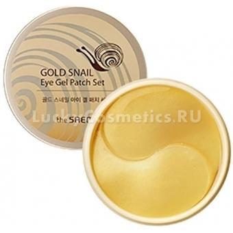 Патчи для век с экстрактом муцина улитки The Saem Gold Snail Eye Gel Patch Set
