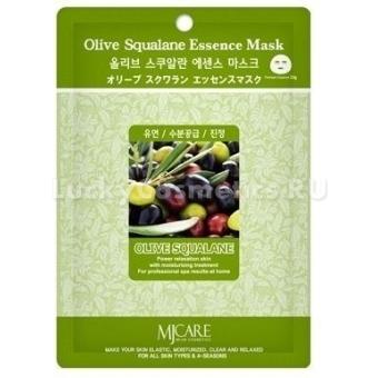 Листовая маска Mijin Cosmetics Olive Squalane Essence Mask