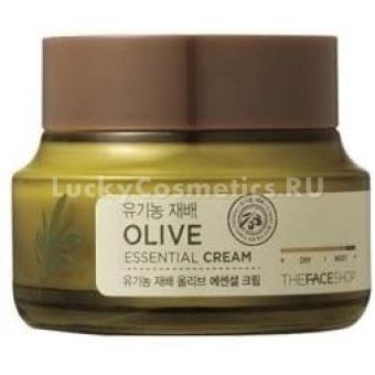 Питательный крем для лица с маслом оливы The Face Shop Olive Essential Cream