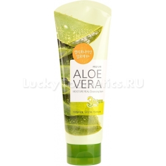 Пенка для умывания Welcos Kwailnara Aloevera Moisture Real Cleansing Foam