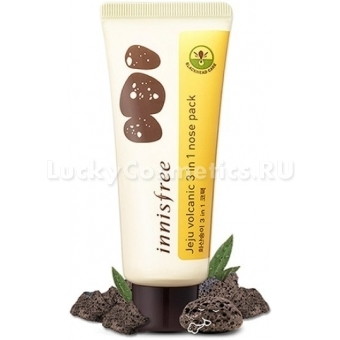 Очищающая маска Innisfree Jeju Volcanic 3 In 1 Nose Pack