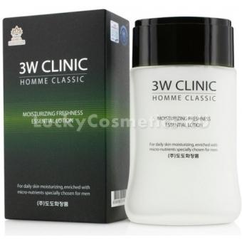 Мужской увлажняющий лосьон 3W Clinic Classic Moisturizing Freshness Essential Lotion