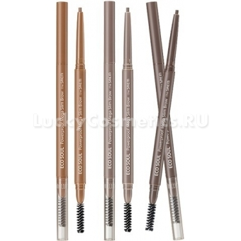 Карандаш для бровей The Saem Eco Soul Powerproof Mega Slim Brow