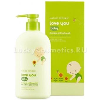 Детский шампунь и гель для душа 2 в 1 Nature Republic Love You Baby Shampoo And Body Wash