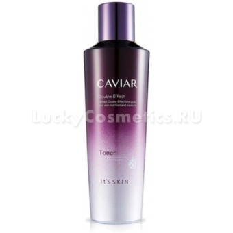 Восстанавливающий тонер с черной икрой It's Skin Caviar Double Effect Toner