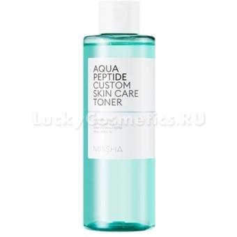 Увлажняющий тоник с пептидами Missha Aqua Peptide Custom Skin Care Toner