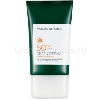 Увлажняющий солнцезащитный крем Nature Republic Green Derma Mild Sun Block Spf 50+ Pa++++