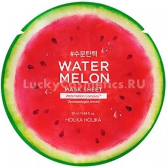 Тканевая маска с экстрактом арбуза Holika Holika Water Melon Mask Sheet