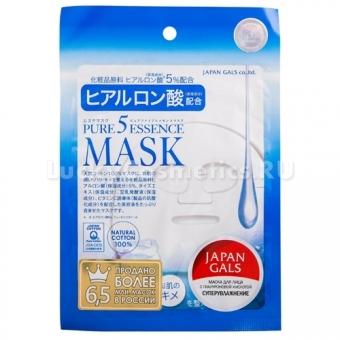 Маска для лица с гиалуроновой кислотой Japan Gals Hyaluronic Acid Essenсe Mask