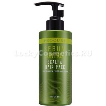 Маска для жирных волос Missha Procure Sebum Cut Scalp & Hair Pack