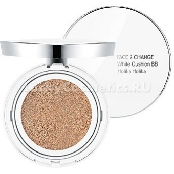 Кушон Holika Holika Face 2 Change White Cushion BB
