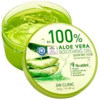 Гель для тела с экстрактом алоэ вера 3W Clinic Aloe Vera Soothing Gel 98%