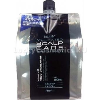 Лечебный мужской шампунь Kumano Cosmetics Beaua Medicated Shampoo Scalp Care