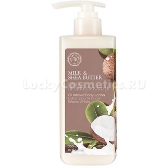 Питательный лосьон для тела The Face Shop Milk And Shea Butter Oil Infused Body Lotion