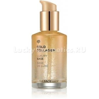 База под макияж с коллагеном и частицами золота The Face Shop Gold Collagen Luxury Base