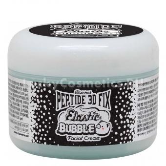 Пузырьковый крем для лица с пептидами Elizavecca Peptide 3d Fix Elastic Bubble Facial Cream