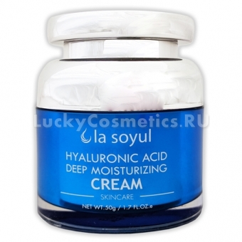 Глубоко увлажняющий крем с 3 видами гиалуроновой кислоты La Soyul Hyaluronic Acid Deep Moisturizing Cream
