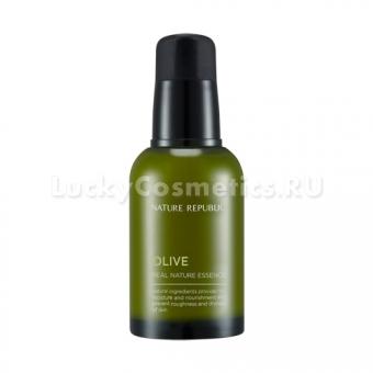 Восстанавливающая эссенция с маслом оливы Nature Republic Olive Real Nature Essence