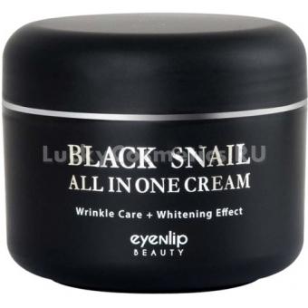 Крем для лица с муцином черной улитки Eyenlip Black Snail All In One Cream