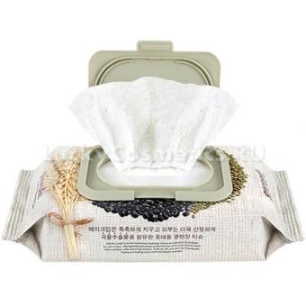 Салфетки для снятия макияжа с экстрактами злаков Medi Flower Granola Facial Deep Cleansing Tissue