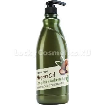 Шампунь-кондиционер с аргановым маслом FarmStay Argan Oil Complete Volume Up Shampoo and Conditioner