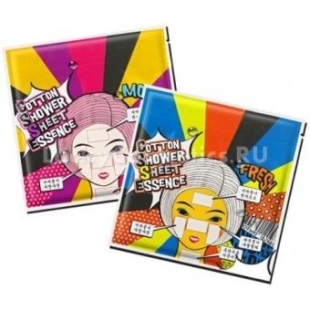 Набор увлажняющих Мини-масок для сухой кожи Mizon Cotton Shower Sheet Essence (Dry)