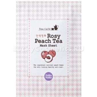 Тканевая маска с персиком и розой  Holika Holika Tea Cafe Mask Sheet Rose Peach tea