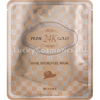 Гидрогелевая маска от морщин Missha Prime 24K Gold Snail Hydro Gel Mask