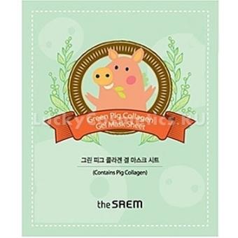 Коллагеновая маска The Saem  Green Pig Collagen Mask Sheet