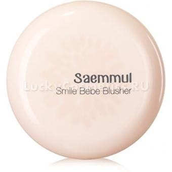 Румяна мерцающие устойчивые The Saem Sammul Bebe Blusher Smile Rose Pink