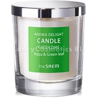 Ароматическая свеча The Saem Aroma Delight Candle Green Time