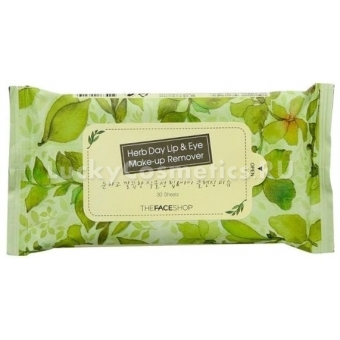 Салфетки очищающие The Face Shop Herb Day Cleansing Tissue