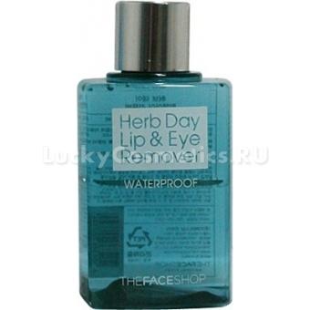 Жидкость для удаления макияжа The Face Shop Herb Day Lip and Eye Make Up Remover Waterproof