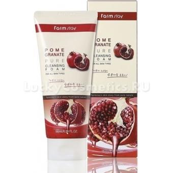 Гранатовая пенка для умывания FarmStay Pomegranate Pure Cleansing Foam