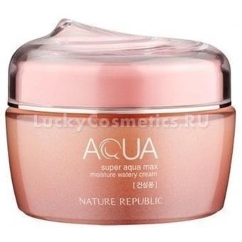 Увлажняющий крем-гель для сухой кожи Nature Republic Super Aqua Max Moisture Watery Cream